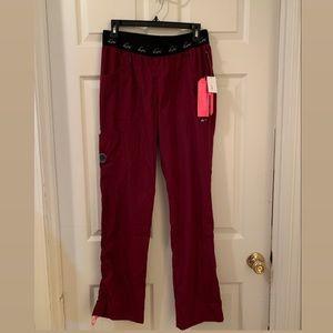 Koi Maroon Scrub Pants.
